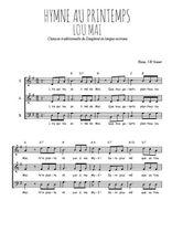 Téléchargez l'arrangement de la partition de hymne-au-printemps-lou-mai-occitan en PDF à trois voix