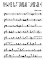Téléchargez la partition pour saxophone en Mib de la musique hymne-national-tunisien en PDF