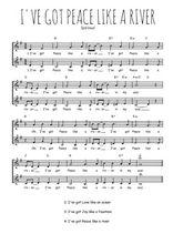 Téléchargez l'arrangement de la partition de Traditionnel-I-ve-got-peace-like-a-river en PDF à deux voix
