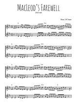Téléchargez l'arrangement de la partition de irish-macLeod-s-farewell en PDF à deux voix
