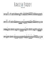 Téléchargez la partition de irish-rakish-paddy en clef de fa