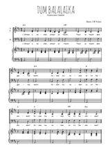 Téléchargez la partition de Tum balalaika en PDF pour 3 voix SAB et piano