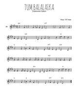 Téléchargez la partition en Sib de la musique yiddish-tum-balalaika en PDF