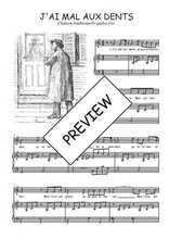 Téléchargez la partition de J'ai mal aux dents en PDF pour Chant et piano