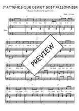 Téléchargez la partition de J'attends que Dewet soit prisonnier en PDF pour Chant et piano