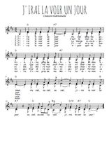 Téléchargez l'arrangement de la partition de Traditionnel-J-irai-la-voir-un-jour en PDF à deux voix
