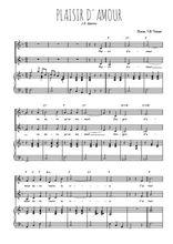 Téléchargez la partition de Plaisir d'amour en PDF pour 2 voix égales et piano