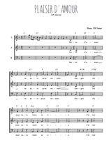 Téléchargez l'arrangement de la partition de j-p-martini-plaisir-d-amour en PDF à trois voix