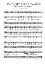 Téléchargez l'arrangement de la partition de Jacques-Offenbach-Belle-nuit-o-nuit-d-amour en PDF à deux voix
