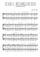 Téléchargez l'arrangement de la partition de Traditionnel-Je-suis-l-archange-de-Dieu en PDF à deux voix