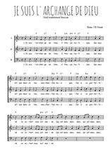 Téléchargez l'arrangement de la partition de Traditionnel-Je-suis-l-archange-de-Dieu en PDF à trois voix
