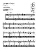 Le beau Danube bleu pour piano Partition gratuite