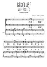 Téléchargez la partition de Berceuse, Wiegenlied en PDF pour 2 voix égales et piano
