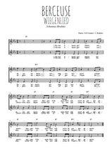 Téléchargez l'arrangement de la partition de brahms-berceuse-wiegenlied en PDF à deux voix