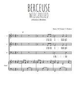 Téléchargez la partition de Berceuse, Wiegenlied en PDF pour 3 voix SAB et piano