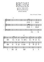 Téléchargez l'arrangement de la partition de brahms-berceuse-wiegenlied en PDF à trois voix