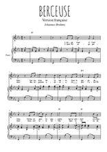 Téléchargez la partition de Berceuse en PDF pour Chant et piano
