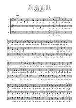 Téléchargez l'arrangement de la partition de Joseph-Haydn-An-den-Vetter en PDF à trois voix