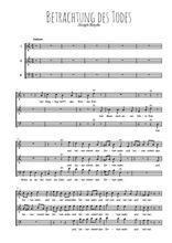 Téléchargez l'arrangement de la partition de Joseph-Haydn-Betrachtung-des-Todes en PDF à trois voix