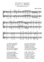 Téléchargez l'arrangement de la partition de Traditionnel-Joseph-et-Marie en PDF à deux voix