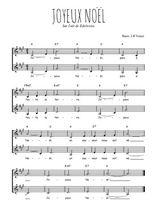 Téléchargez l'arrangement de la partition de Traditionnel-Joyeux-Noel en PDF à deux voix