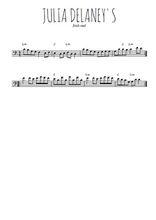Téléchargez la partition de irlande-julia-delaney-s en clef de fa