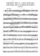 Téléchargez la partition de la musique musique-de-cirque-entree-des-gladiateurs en PDF, pour flûte traversière