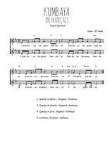 Téléchargez l'arrangement de la partition de spiritual-gospel-kumbaya-en-francais en PDF à deux voix