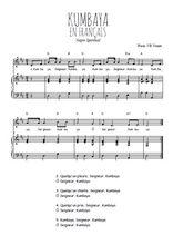 Téléchargez la partition de Kumbaya en français en PDF pour Chant et piano
