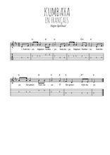 Téléchargez la tablature de la musique spiritual-gospel-kumbaya-en-francais en PDF