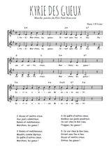 Téléchargez l'arrangement de la partition de Traditionnel-Kyrie-des-gueux en PDF à deux voix