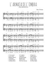Téléchargez l'arrangement de la partition de chanson-corse-l-armata-di-l-ombra en PDF à deux voix