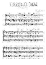 Téléchargez l'arrangement de la partition de chanson-corse-l-armata-di-l-ombra en PDF à trois voix