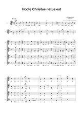 Hodie Christus natus, 4 voix Partition gratuite