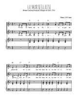 Téléchargez la partition de La Marseillaise en PDF pour 2 voix égales et piano