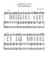 Téléchargez la partition de La Marseillaise en PDF pour Chant et piano