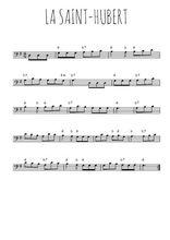 Téléchargez la partition de chanson-traditionnelle-la-saint-hubert en clef de fa