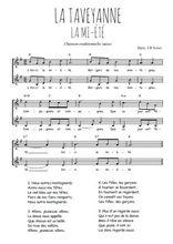 Téléchargez l'arrangement de la partition de Traditionnel-La-Taveyanne en PDF à deux voix