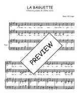Téléchargez la partition de La baguette en PDF pour 2 voix égales et piano