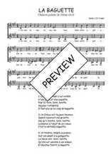 Téléchargez l'arrangement de la partition de Traditionnel-La-baguette en PDF à deux voix