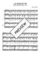 Téléchargez la partition de La baguette en PDF pour 3 voix SAB et piano