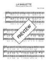 Téléchargez l'arrangement de la partition de Traditionnel-La-baguette en PDF à trois voix