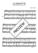 Téléchargez la partition de La baguette en PDF pour Chant et piano