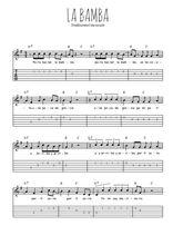 Téléchargez la tablature de la musique Traditionnel-La-Bamba en PDF