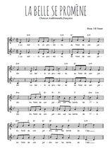 Téléchargez l'arrangement de la partition de Traditionnel-La-belle-se-promene en PDF à deux voix