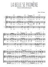 Téléchargez l'arrangement de la partition de Traditionnel-La-belle-se-promene en PDF à trois voix