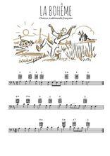 Téléchargez la partition de chanson-traditionnelle-la-boheme en clef de fa