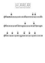 Téléchargez la partition en Sib de la musique la-cavalcade en PDF