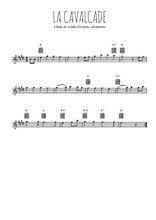 Téléchargez la partition pour saxophone en Mib de la musique la-cavalcade en PDF