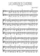 Téléchargez l'arrangement de la partition de guerre-14-18-la-chanson-de-craonne en PDF à deux voix